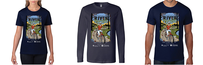 Gallery of 2017 Mankato River Ramble t-shirts