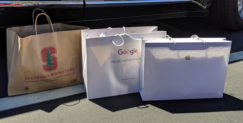 Apple Google Stanford Shopping Bags