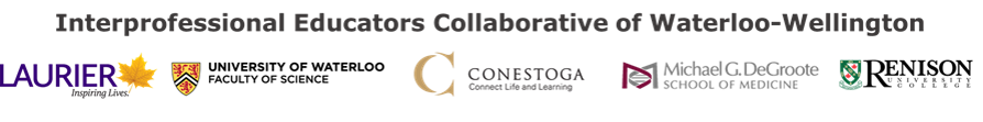 LOGO for Interprofessional Educators Collaborative of Waterloo Welllington