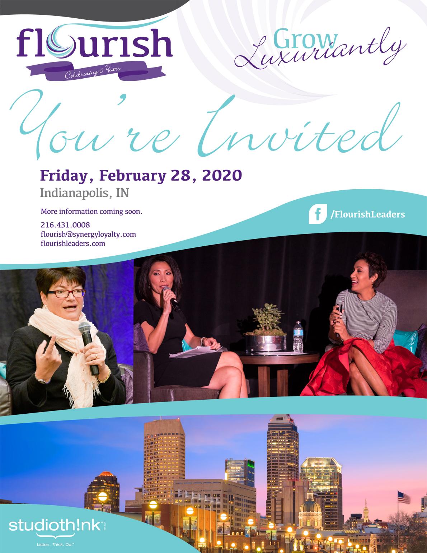 2020 Flourish Indianapolis Invitation