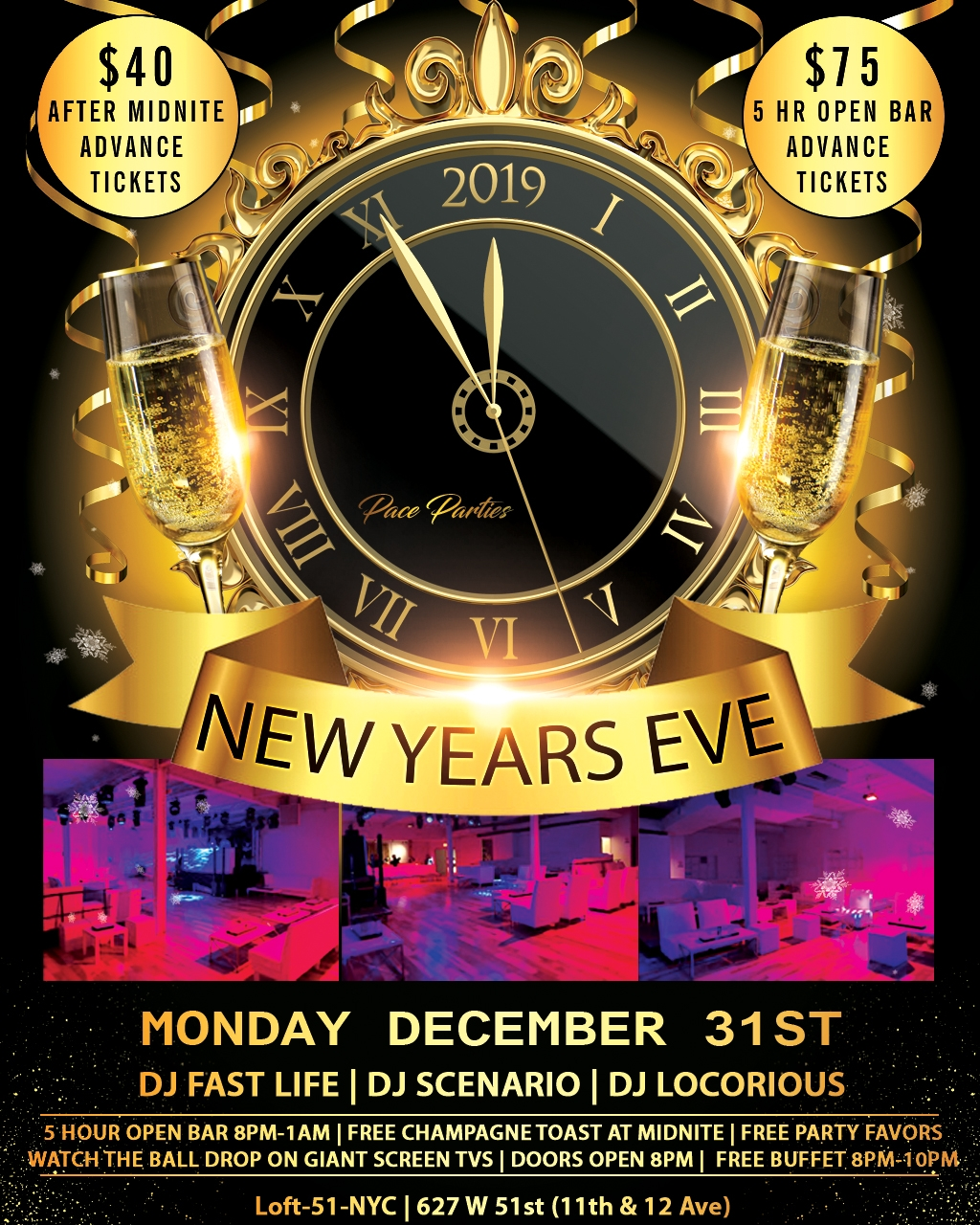 New Years Eve at Loft 51 NYC