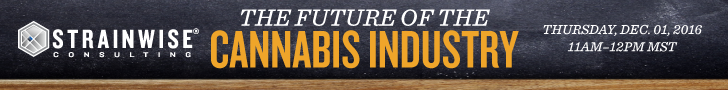 The Future of the Cannabis Industry - Webinar Banner - Thursday Dec. 8, 2016 11am–12pm MST