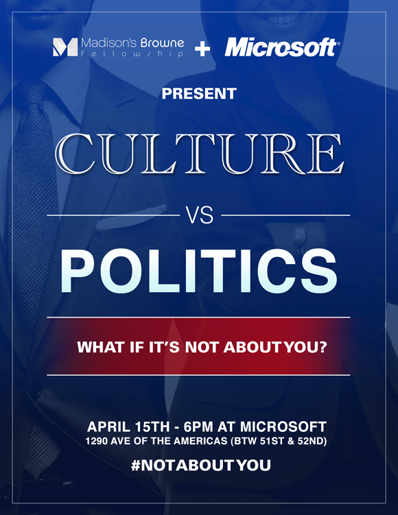 Culture vs. Politics Flyer