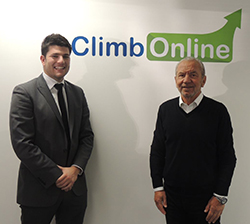 Mark Wright with business partner Lord Sugar