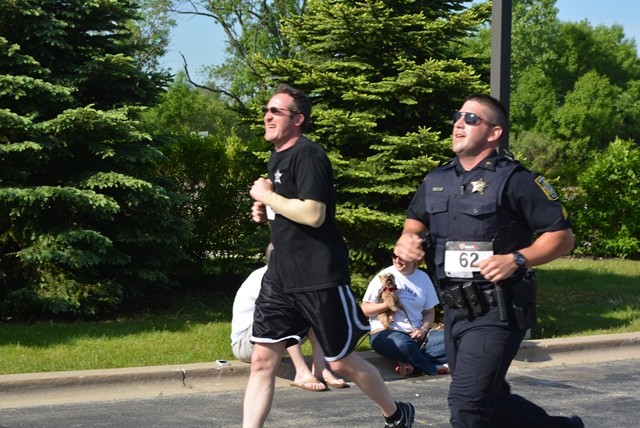 Gurnee Officer in race