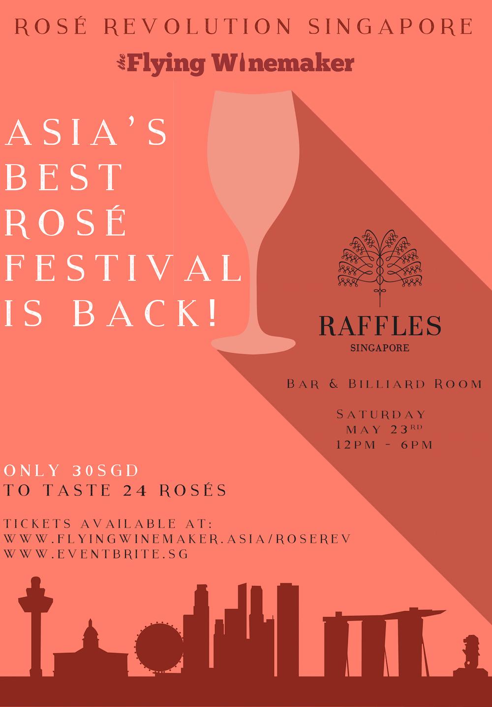 Rosé Revolution Singapore 2015 Poster