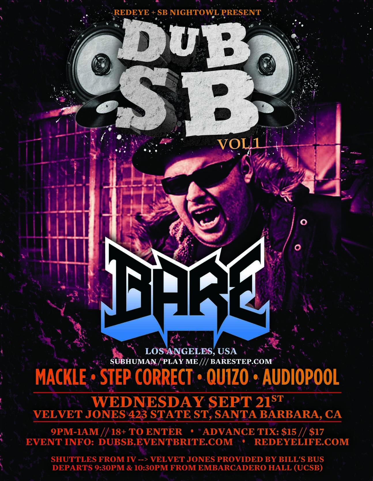 DubSB Vol.1 ft BARE (Flyer)