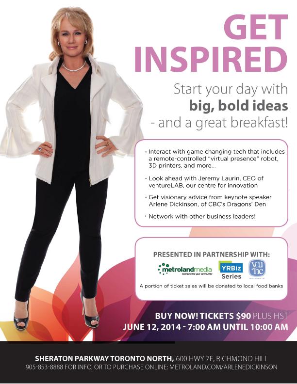 Get Inspired with Arlene Dickinson