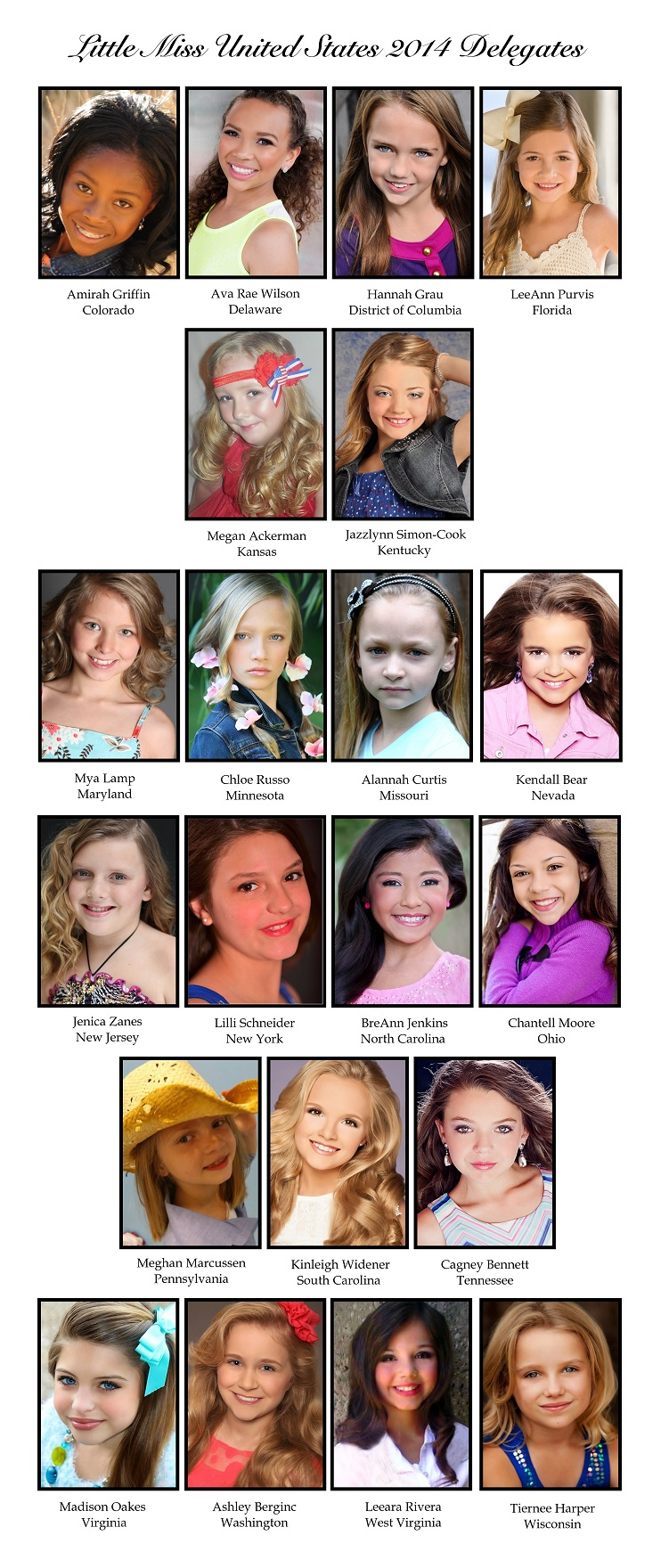 Little Miss 2014 Delegates