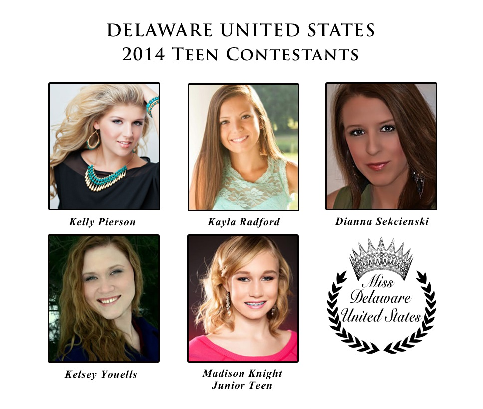 Teen and Jr Teen Delaware United States 2014 Contestants