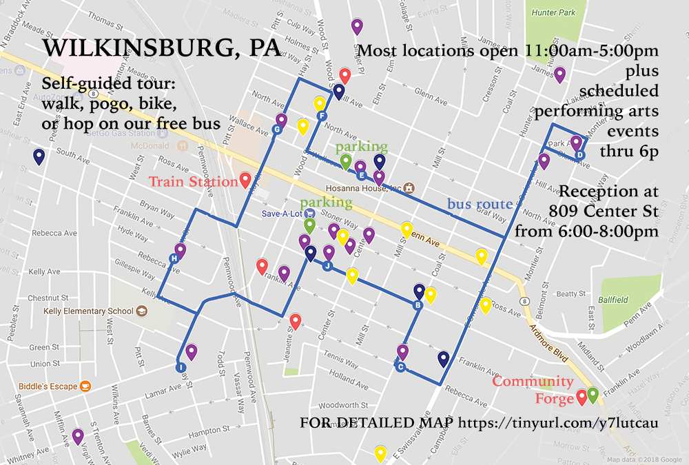 Wilkinsburg Sacred Space Tour Map