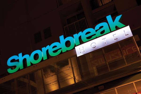 Shorebreak Hotel Sign