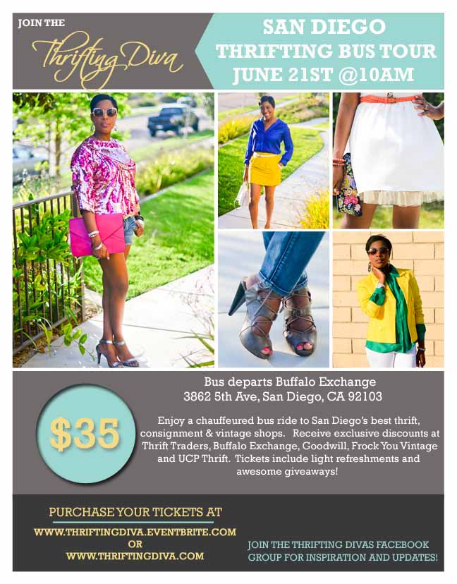 San Diego Thrifting Bus Tour, June 21, 2014