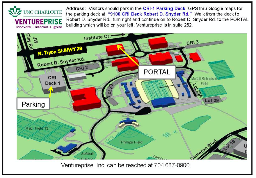 UNC Charlotte Parking Map