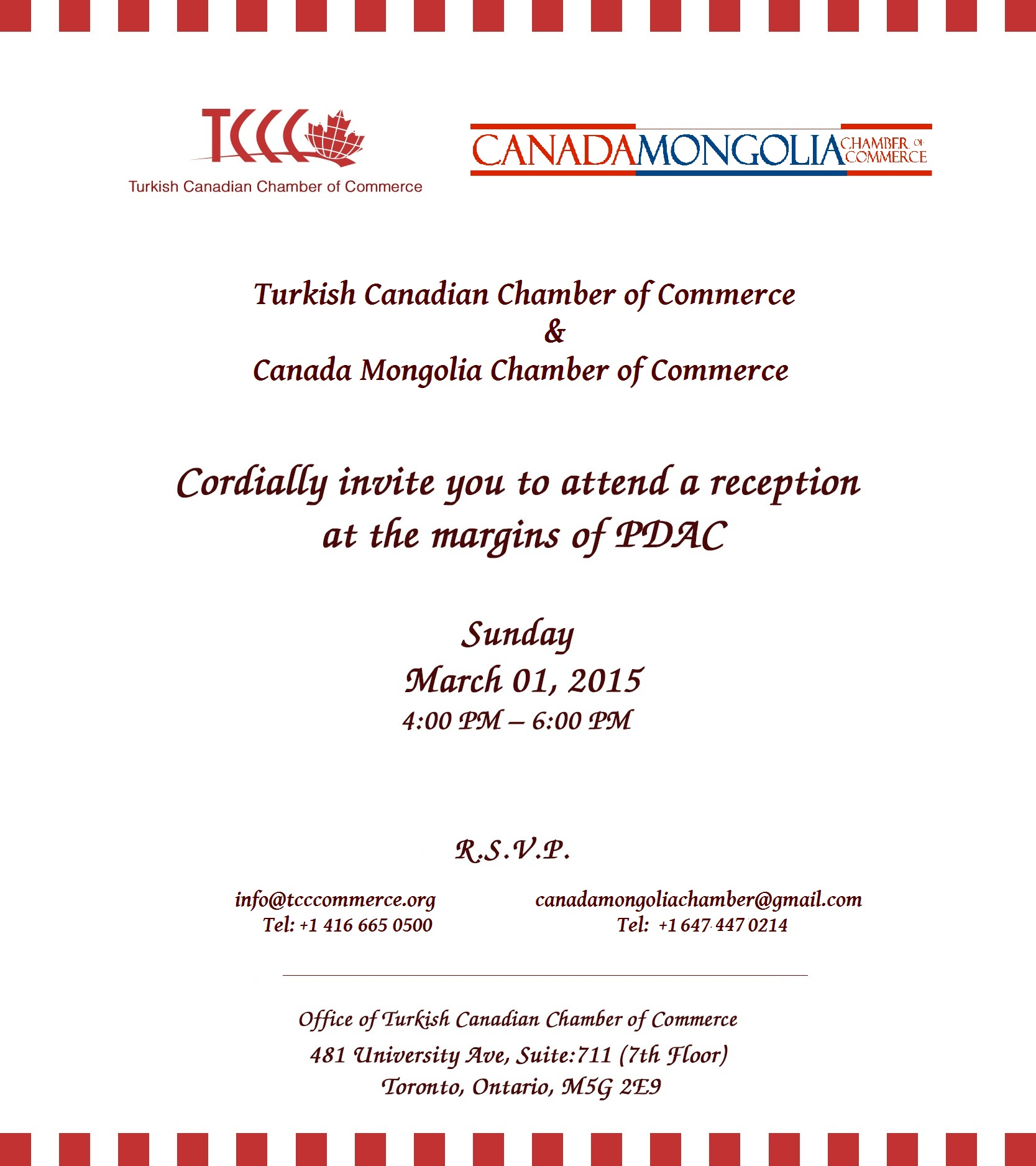 TCCC and CMCC reception during PDAC 2015