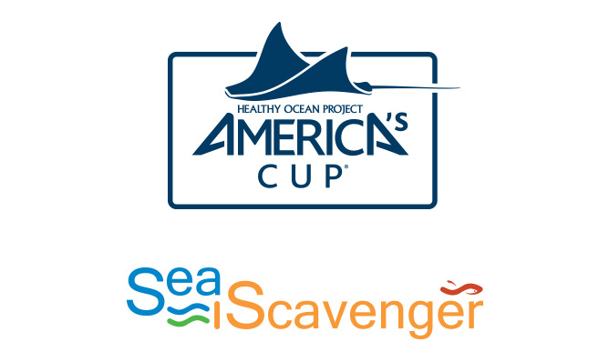 Logo for America's Cup Healthy Ocean Project and Sea Scavenger Conservancy