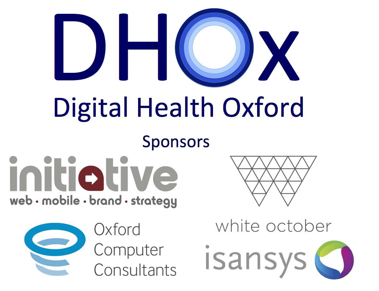 DHOx logo plus sponsors