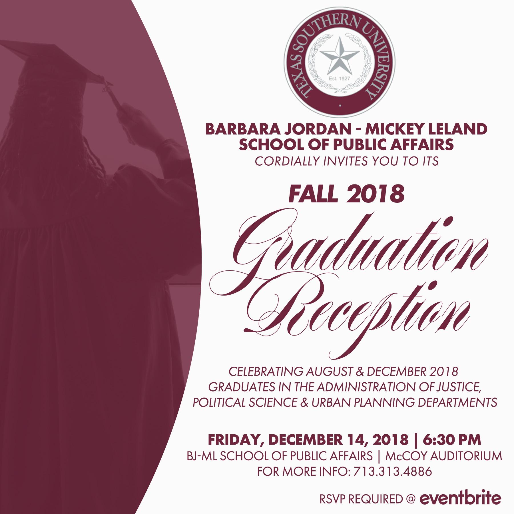Fall 2018 BJMLSPA Graduation Reception