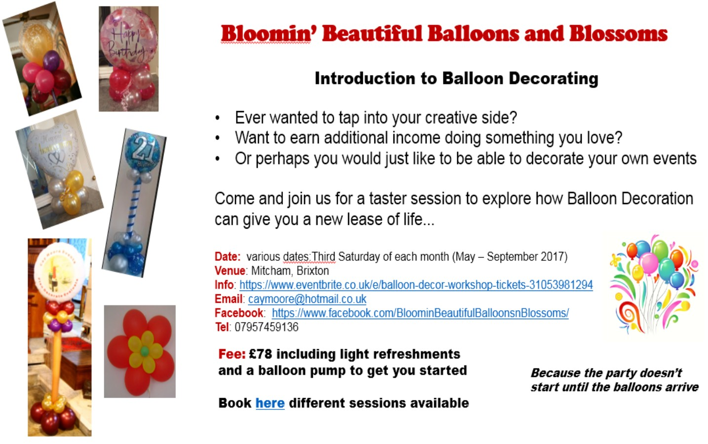 BALLOON WORKSHOP AD
