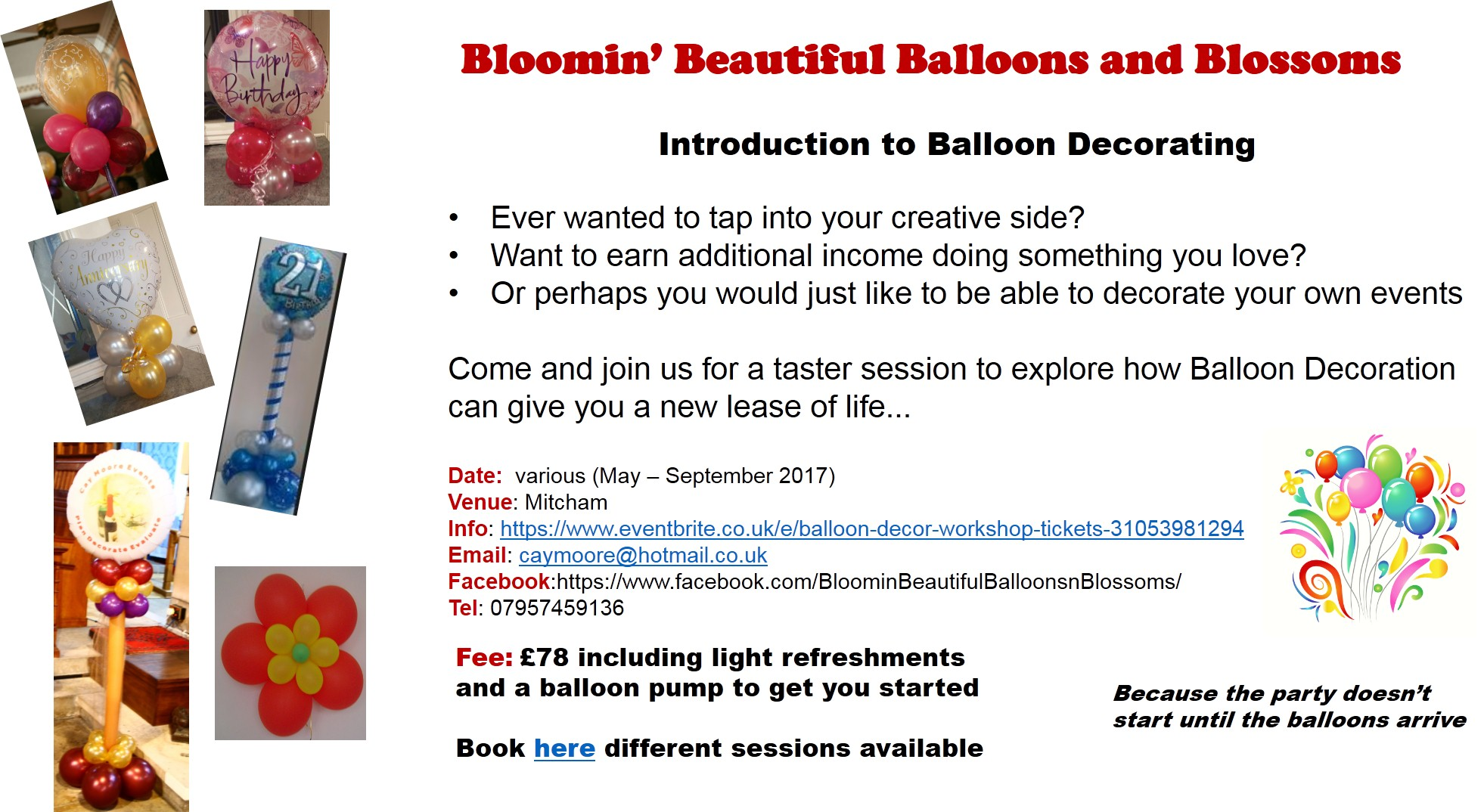 basic balloon workshop