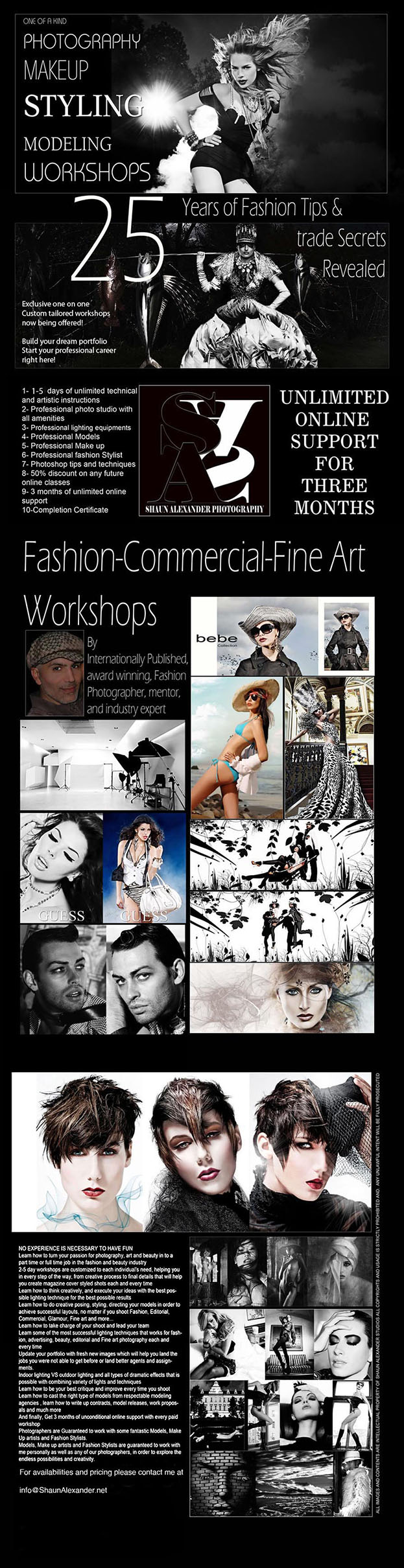 Fashion Photography Workshops in London, UK , Prague, Czech Republic, Vienna, Austria