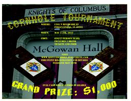 2013 K of C Cornhole Tournament (McGowan Hall)