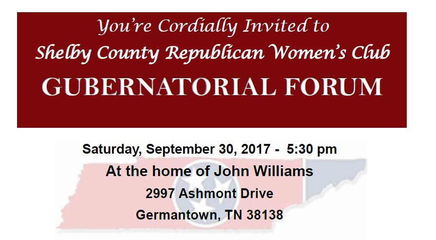 Gubernatorial Candidate Forum Invitation