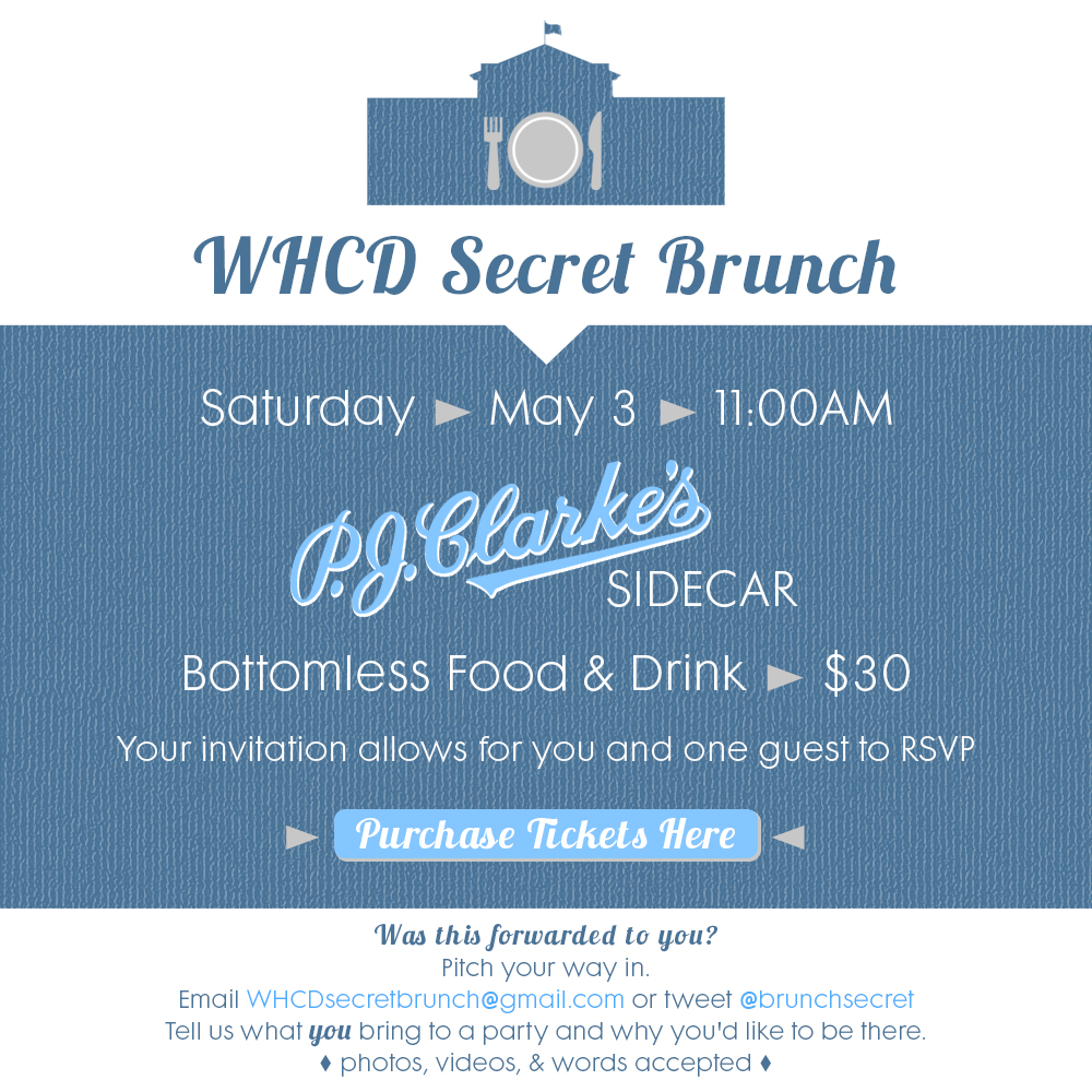WHCD Secret Brunch @ Sidecar