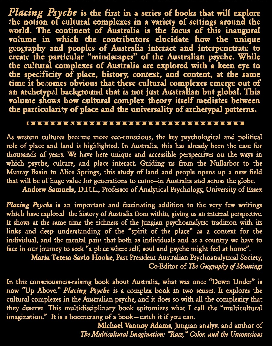 Back cover of the Placing Psyche book
