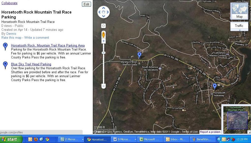 Horsetooth Mountain Map