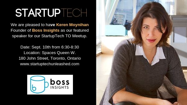 Startuptech TO Founder Talk Sept.