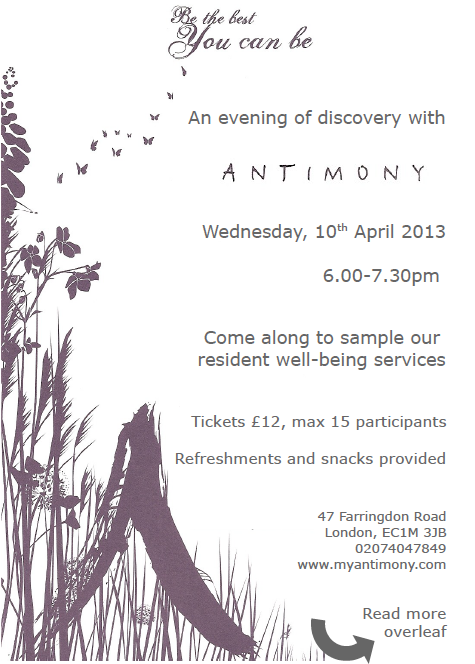 Antimony Open Evening Flyer