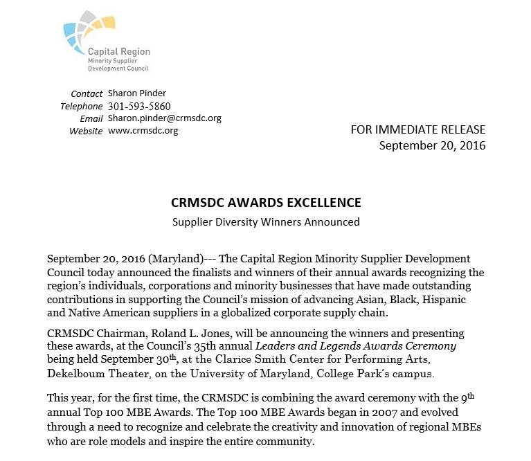Snip of Press Release