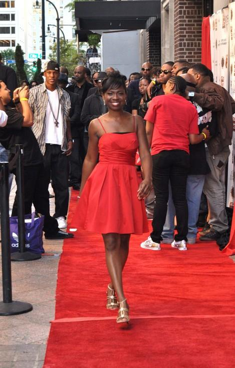 Passkeys Lady J on the Red Carpet