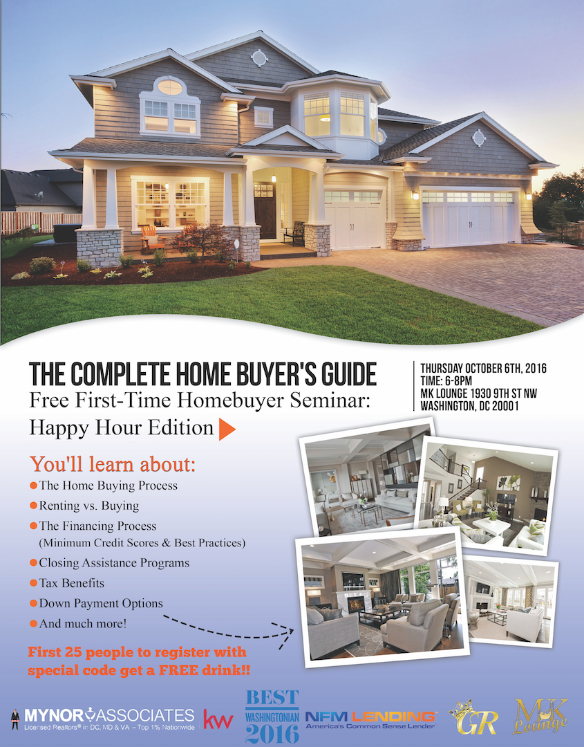 complete home buyer 39 s guide free first time homebuyer seminar happy hour tickets thu oct 6. Black Bedroom Furniture Sets. Home Design Ideas