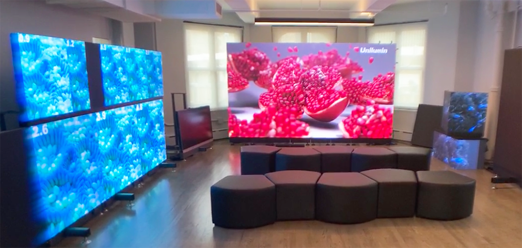 LED wall and cubes