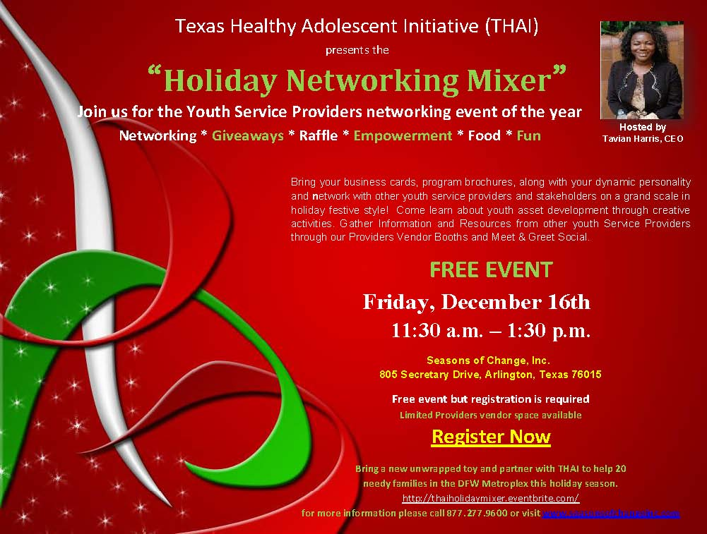 Youth Business Mixer ~ Thai holiday networking mixer tickets fri dec