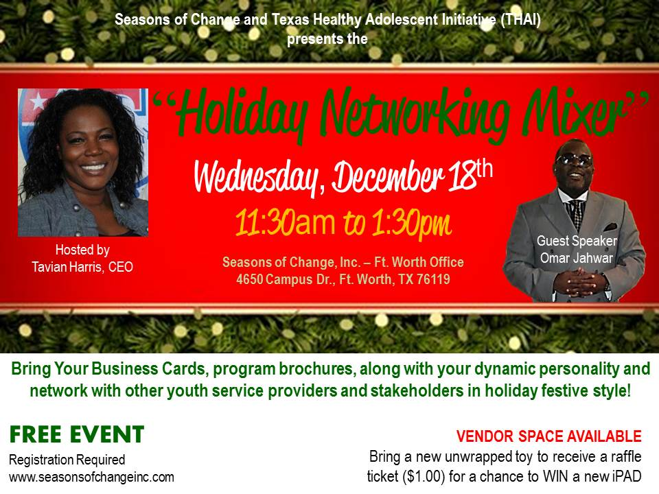 Youth Business Mixer ~ Seasons of change thai holiday networking mixer