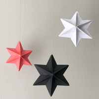 Origami star christmas decorations by Material