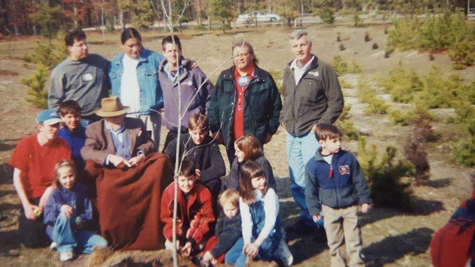 Meeting with Elders in the Pine Barrens, Ingwe, Jake Swamp, with Tom Brown Jr., Jon Young, Ricardo Sierra, and Youth