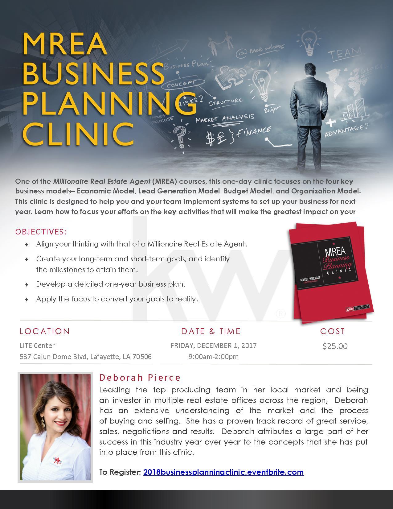 2018 MREA Business Planning Clinic
