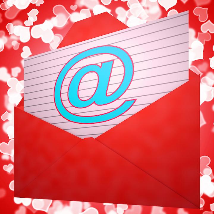 red email envelope symbol