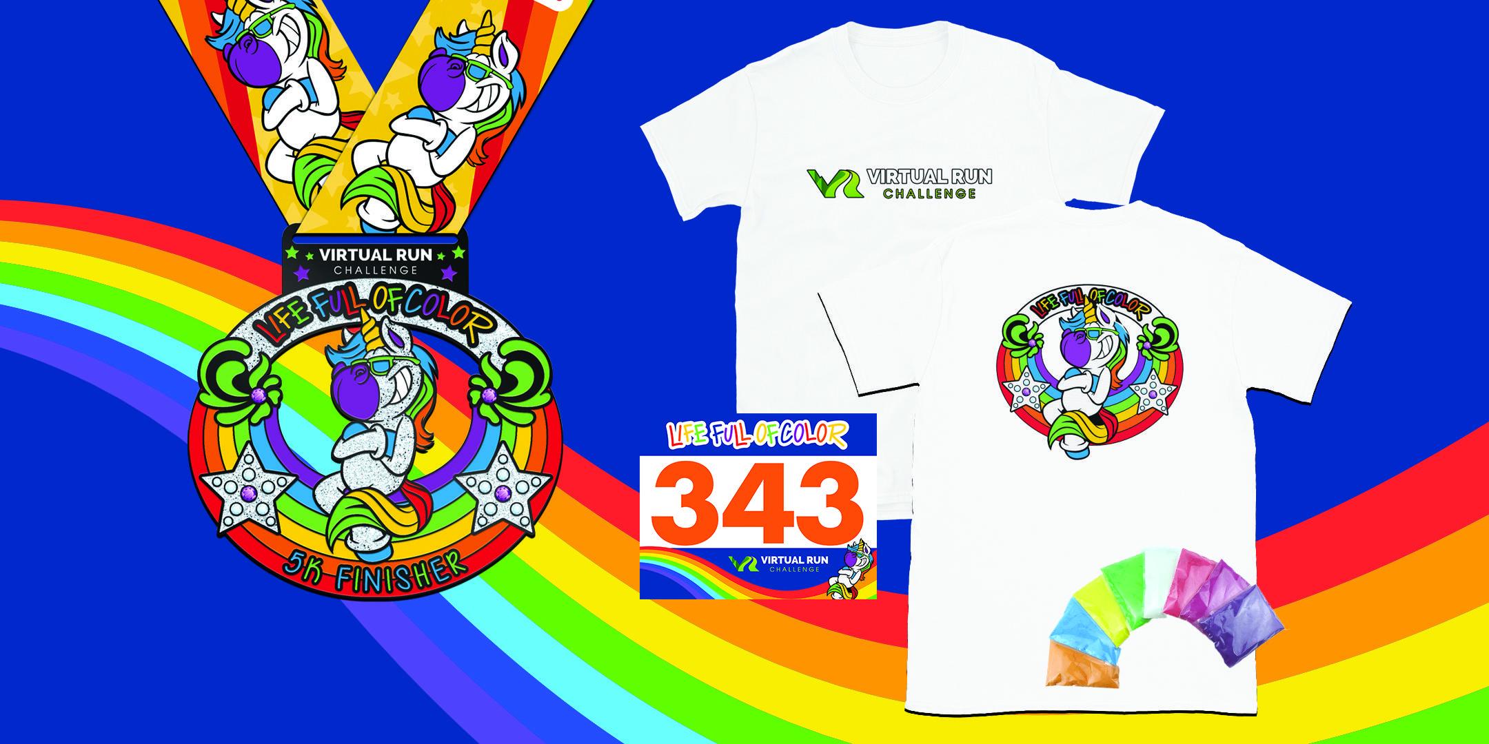 2020 Life Full of Color Virtual 5k Color Run- McAllen
