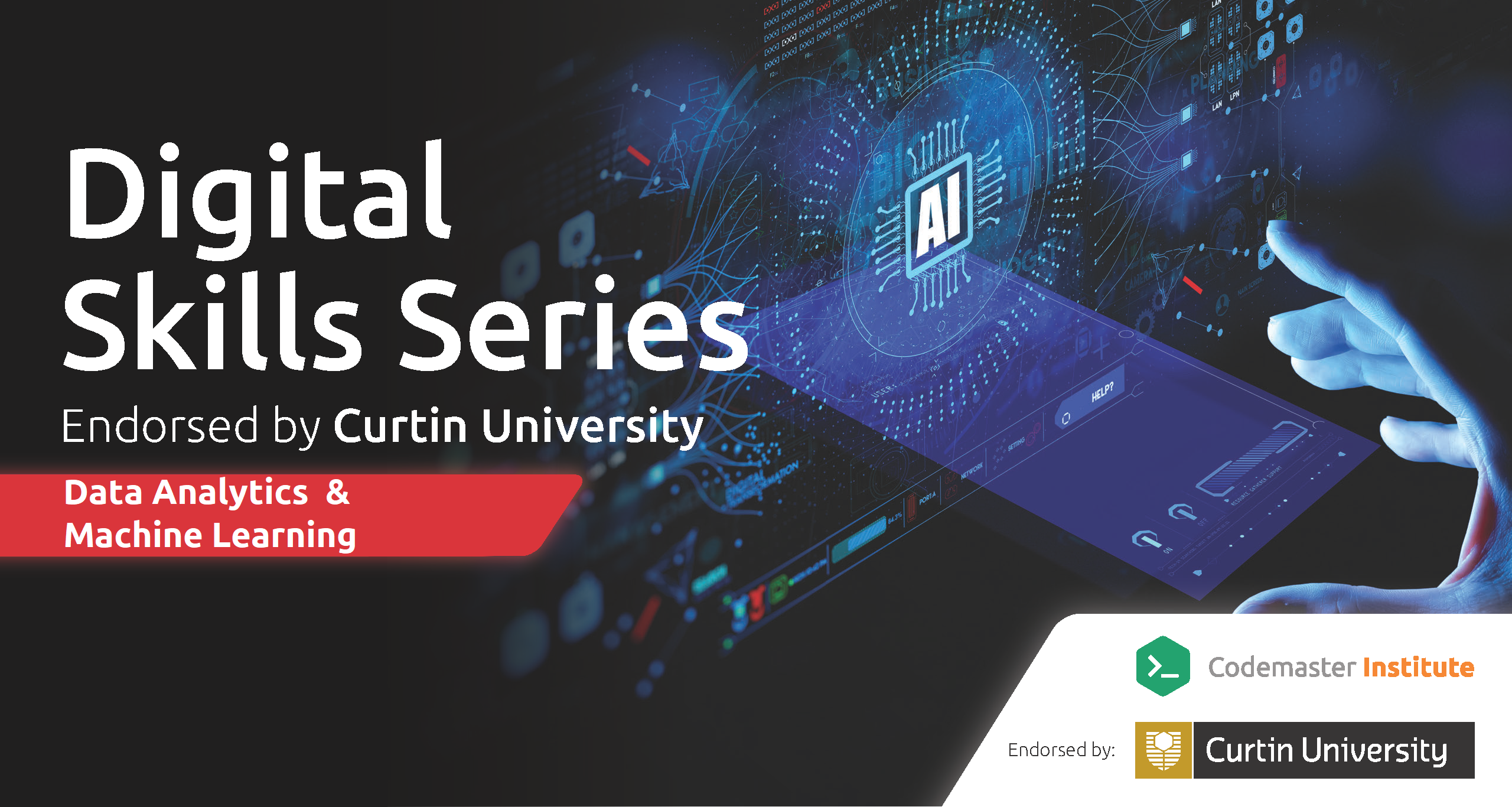4 Week Data Analytics and Machine Learning - Digital Skills Series Endorsed by Curtin University