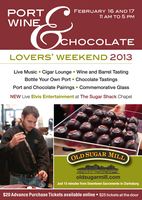 Port, Wine & Chocolate Lovers' Weekend 2013