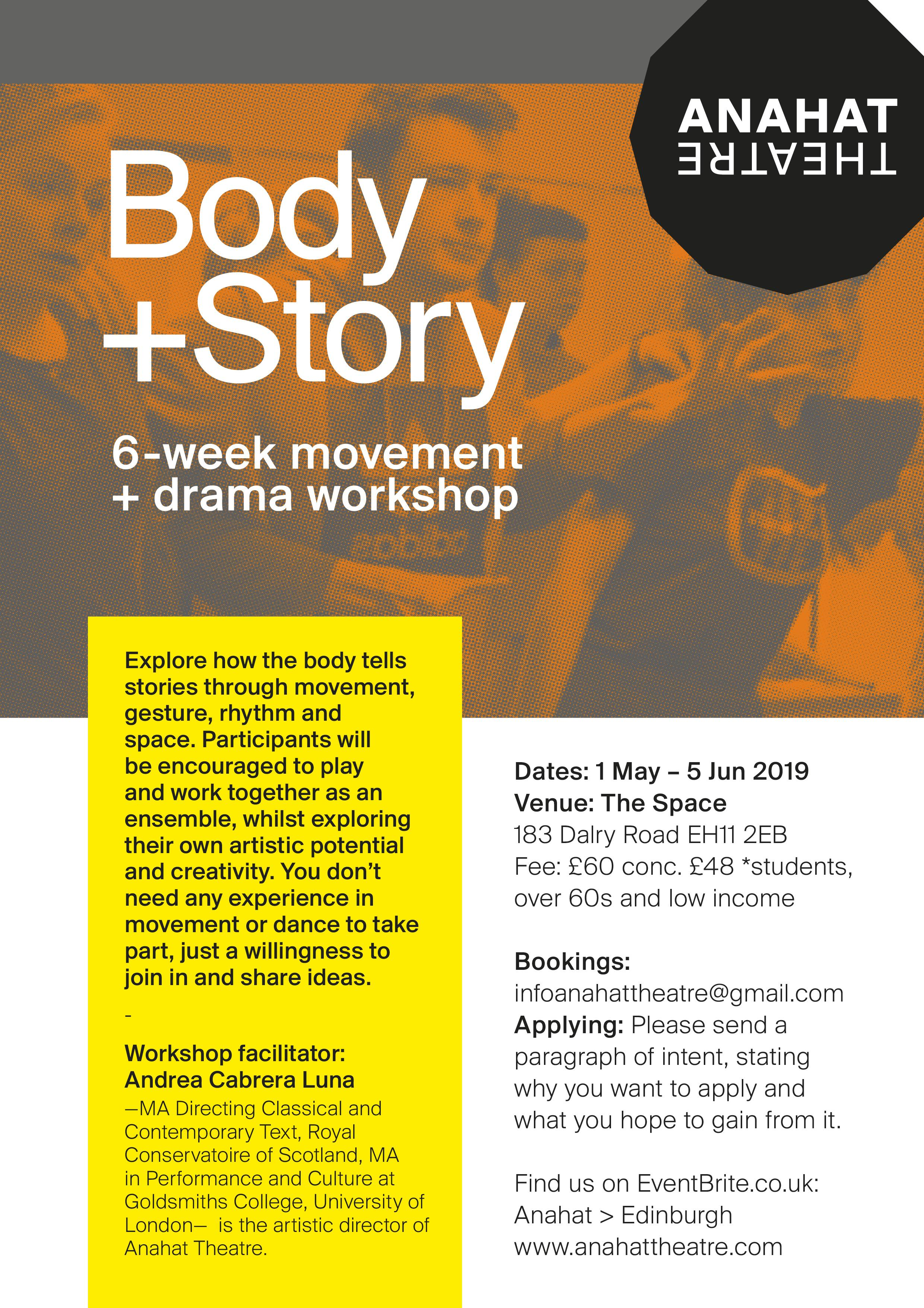 Body + Story (4 week online theatre course)