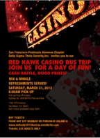 RED HAWK CASINO BUS TRIP HOSTED BY THE SAN FRANCISCO...