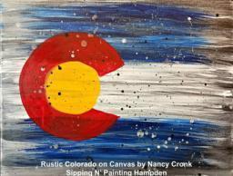 Paint Wine Denver Rustic Colorado Thurs June 11th 6:30pm $35