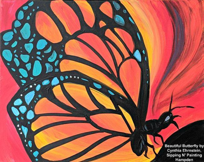 Paint Wine Denver Beautiful Butterfly Sun June 7th 1:30pm $30