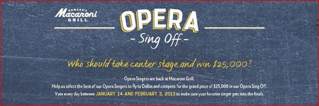 Vote for Ryan Michael Luken in the Macaroni Grill Opera...
